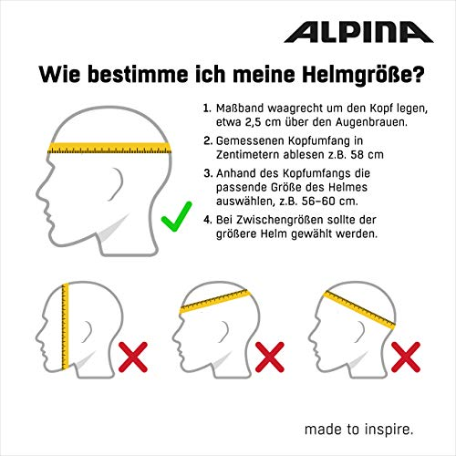 Alpina Unisex– Erwachsene Mythos 3.0 LE Fahrradhelm, Dark-Silver matt, 52-57 cm