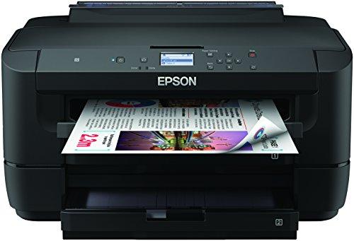Epson WorkForce WF-7710DWF 4-in-1 Business Tintenstrahl-Multifunktionsgerät (Drucken Scannen, Kopieren, Fax, WiFi, Ethernet, NFC, Full Duplex, bis DIN A3+, Amazon Dash Replenishment-fähig) schwarz