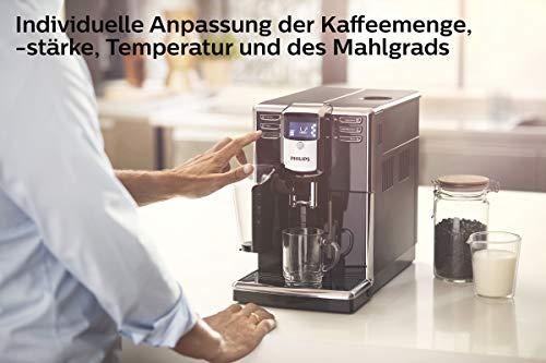 Philips 5000 Serie EP5330/10 Kaffeevollautomat, 6 Kaffeespezialitäten (LatteGo Milchsystem) Klavierlack-schwarz