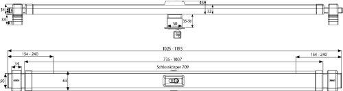 ABUS Panzerriegel PR2700 für Haus- und Wohnungstüren, weiß, 49090
