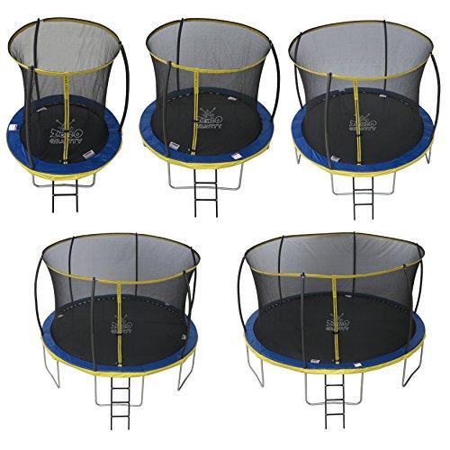 Zero Gravity Garten-Trampolin Ultima 4 für Kinder, mit Sicherheitsnetz und Leiter, blau/gelb, 244 cm