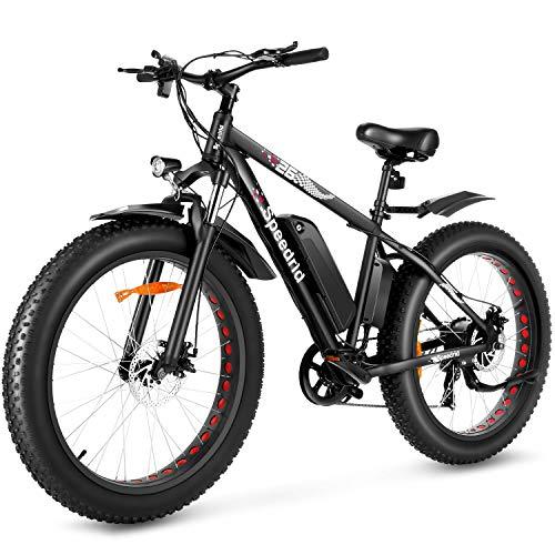 Speedrid Electric Bike 48V 500W Fat Tire Electric Bike Snow Bike 26