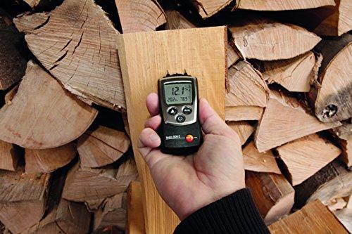 Testo 0560 6062 606-2 handliches Holz-/Materialfeuchte-Messgerät mit integrierter Feuchte-Messung und NTC-Luft-Thermometer, inklusive Schutzkappe