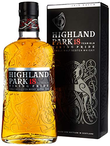 Highland Park 18 Jahre Viking Pride Single Malt Scotch Whisky (1 x 0.7 l) – intensiver Whisky, Lagerung in Ex-Sherry-Fässern, der Stolz der Wikinger