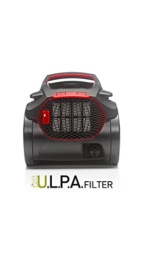 Fakir Air WAVE Prestige TS 2400 / Bodenstaubsauger mit Beutel, Allergiker-geeignet, niedriger Stromverbrauch, ULPA 15 Filter, 4,5l Staubbeutelvolumen, sehr leise – 500 Watt