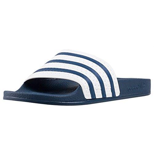 adidas Originals Unisex-Erwachsene Adilette Dusch-& Badeschuhe, Blau (adiblue/white/adiblue), 40.5 EU (7 UK)