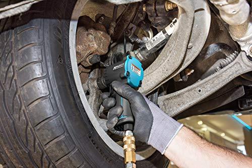 HAZET Druckluft-Schlagschrauber (extra kurz (98 mm), max. Lösemoment: 1200 Nm, Nennweite Kupplungsstecker: 7,2, Jumbohammer-Schlagwerk) 9012 M-1