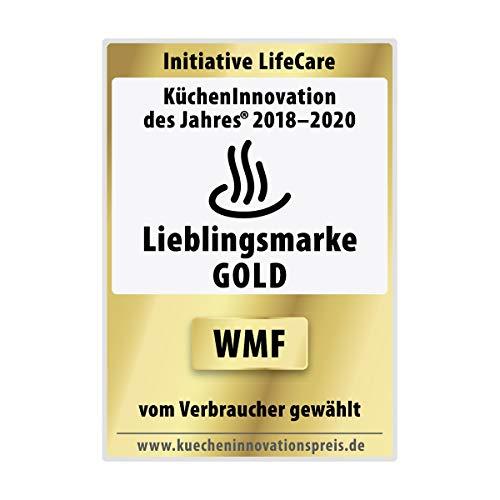 WMF LONO Waffeleisen Edition, Herzwaffeleisen, stufenlos einstellbarer Bräunungsgrad, 900 W, cromargan matt/silber