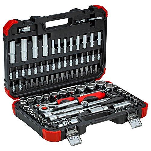 GEDORE red Steckschlüsselsatz, 94-teilig, Mit Umschaltknarren, Ratschen, Steckschlüssel und Bitsatz