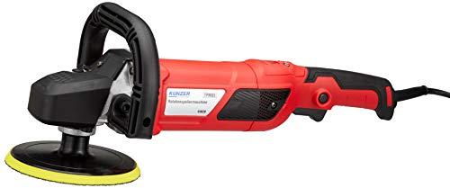 KUNZER (7PM05) Rotations-Poliermaschine – 150 mm Teller - 1500 Watt Motor - Set inkl. Wollhaube, Schwämmen u.v.m