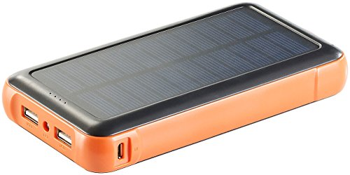 revolt Solar Ladestation: Solar-Powerbank PB-200.s mit 20.000 mAh, Ladestand-Anz, 2X USB (Solarladegerät für Handy)