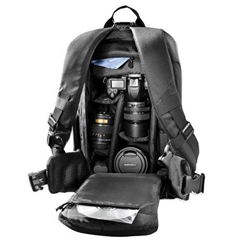 Mantona Trekking Fotorucksack – DSLR Kamerarucksack Kameratasche mit Regenschutz