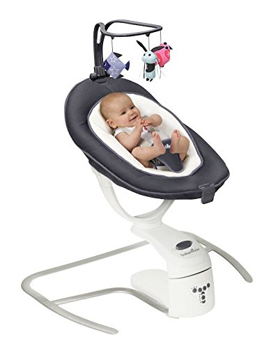 Babymoov Babyschaukel Swoon Motion Zink - inkl. 8 Melodien in MP3-Qualität, verstellabre Rückenlehne und Bewegungsmelder