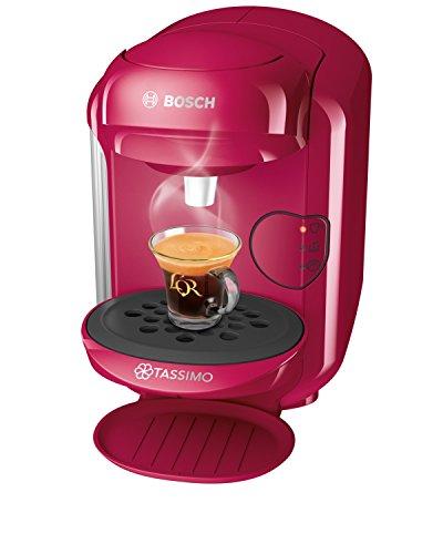 Bosch TAS1401 Tassimo Vivy2 Kapselmaschine, über 70 Getränke, vollautomatisch, geeignet für alle Tassen, kompakte Größe, 1300 W, pink