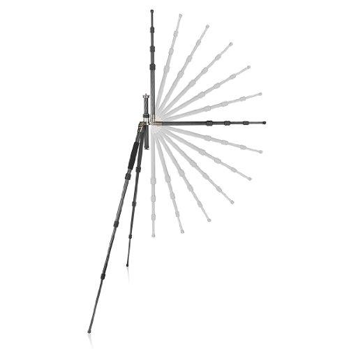 Mantona Titanium Carbon Kamerastativ mit Kugelkopf inkl. Schnellwechselplatte