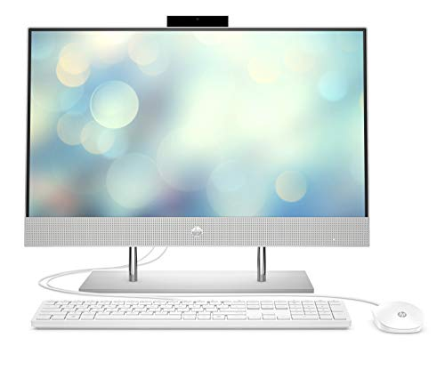 HP Pavilion 24-k0014ng (24 Zoll / Full HD Touch) All-in-One PC (Intel Core i5-10400T, 16GB DDR4 RAM, 1TB HDD, 512GB SSD, Nvidia GeForce MX350 2GB, Windows 10) weiß