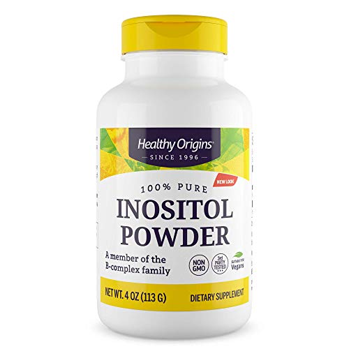 Healthy Origins Inositol Powder Non-GMO, 4 Ounce