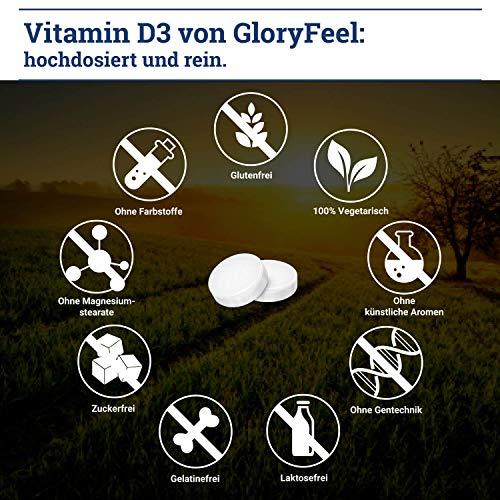 Vitamine D Zonnevitamine - 400 tabletten (13 maanden) - 1000 IU vitamine D3 per tablet - Ondersteunt botten, tanden, spieren, en het immunsysteem* - geproduceerd in Duitsland