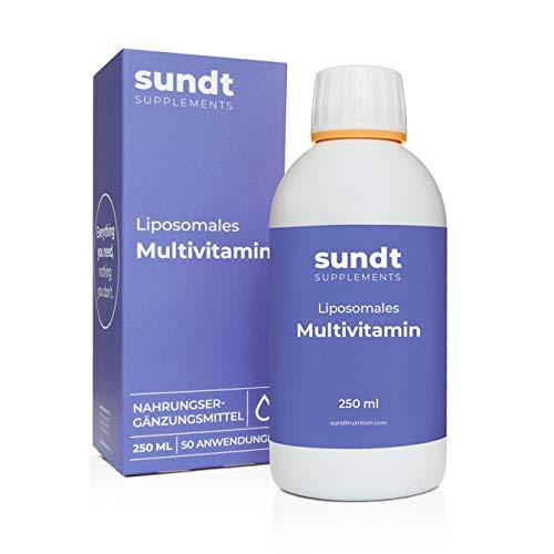 Liposomales Multivitamin in flüssiger Form für einen gesunden und starken Körper – 250 ml Flasche – 50 Anwendungen – GMO-frei – MADE IN EU – Sundt Nutrition Nahrungsergänzung